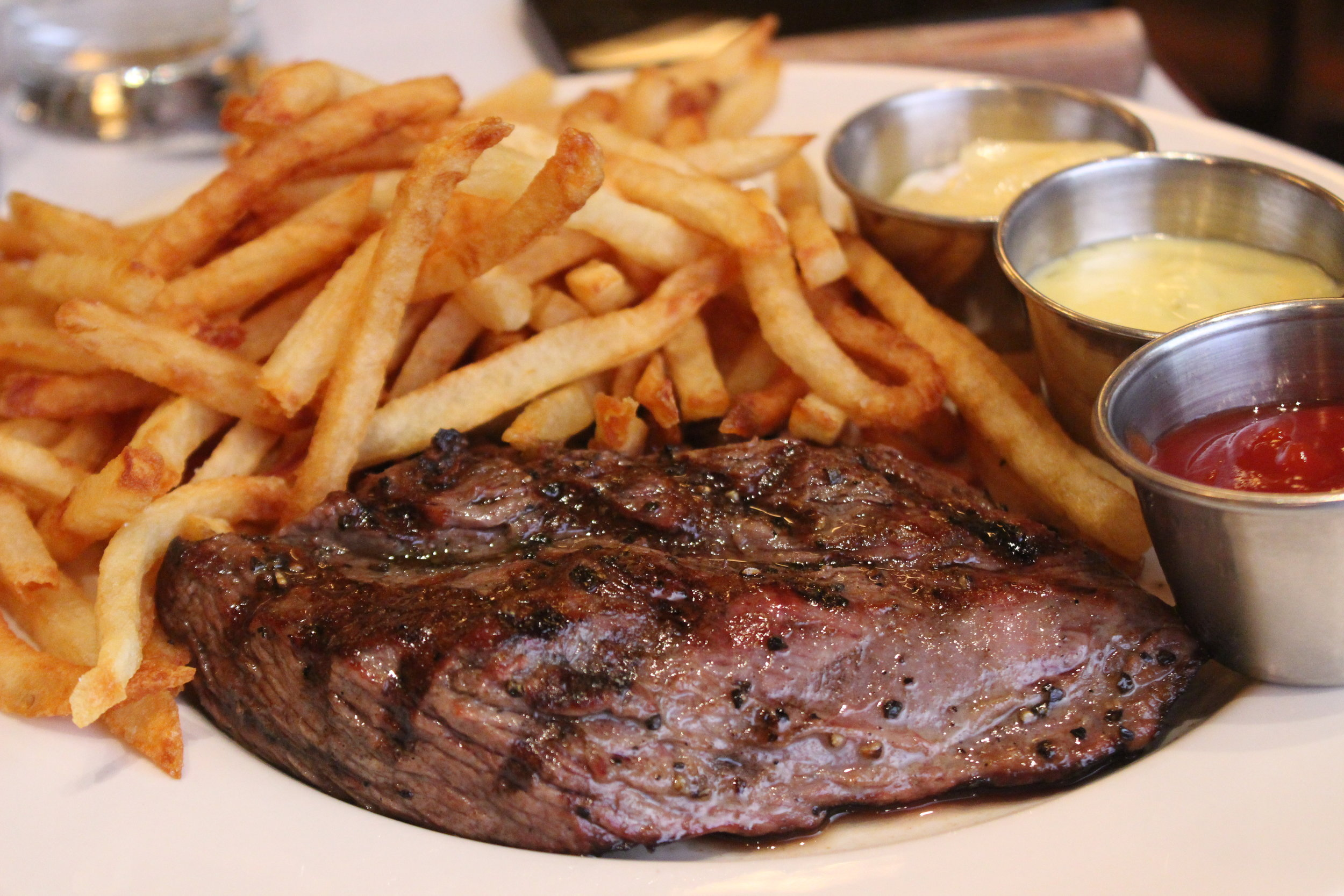 Steak Frites with Maître D' butter or Béarnaise sauce