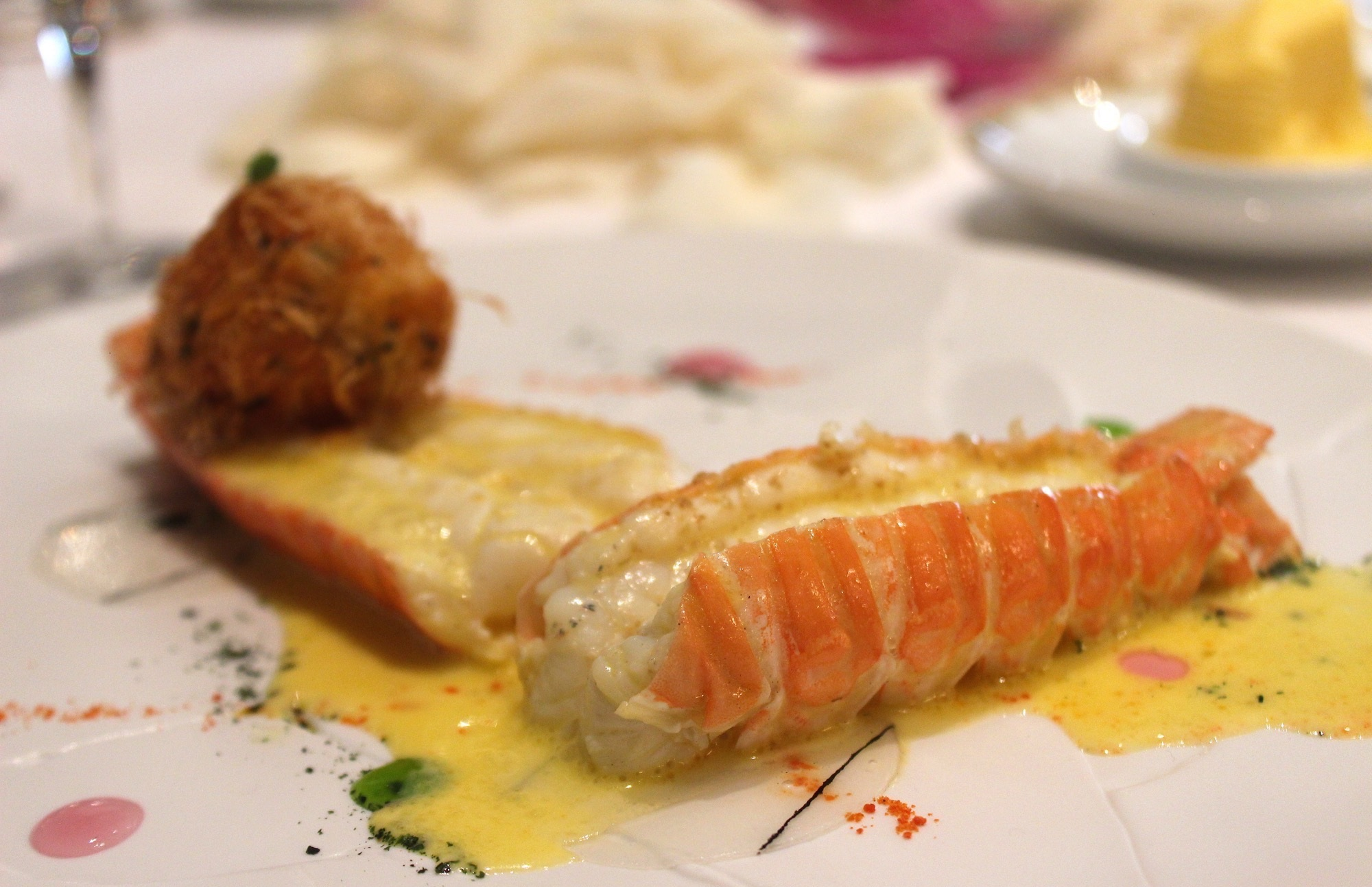 Large Langoustines fron Britany with Citrus Emulsion scented with Olive Oil