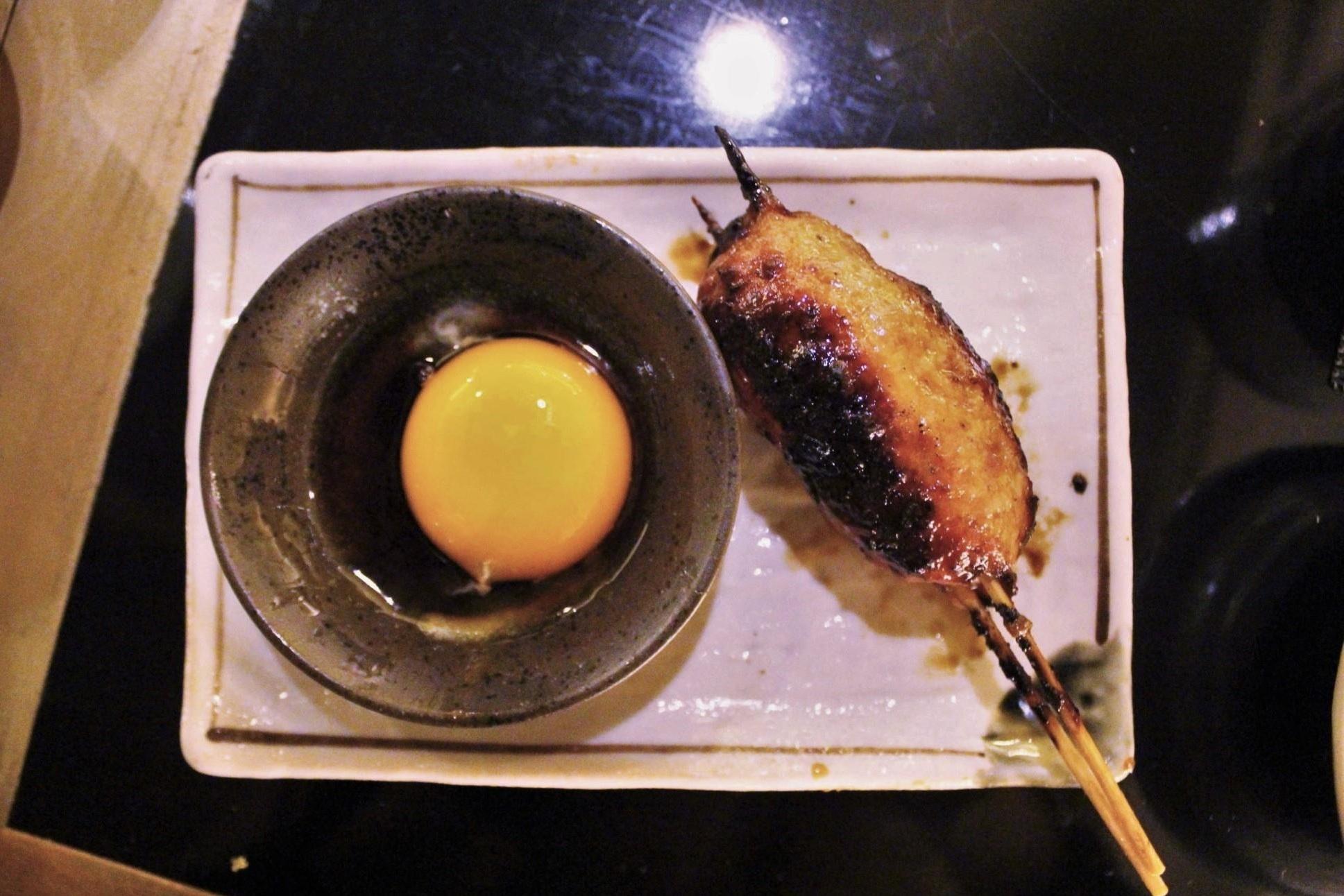 Chicken Meatball with Yolk at Torishin