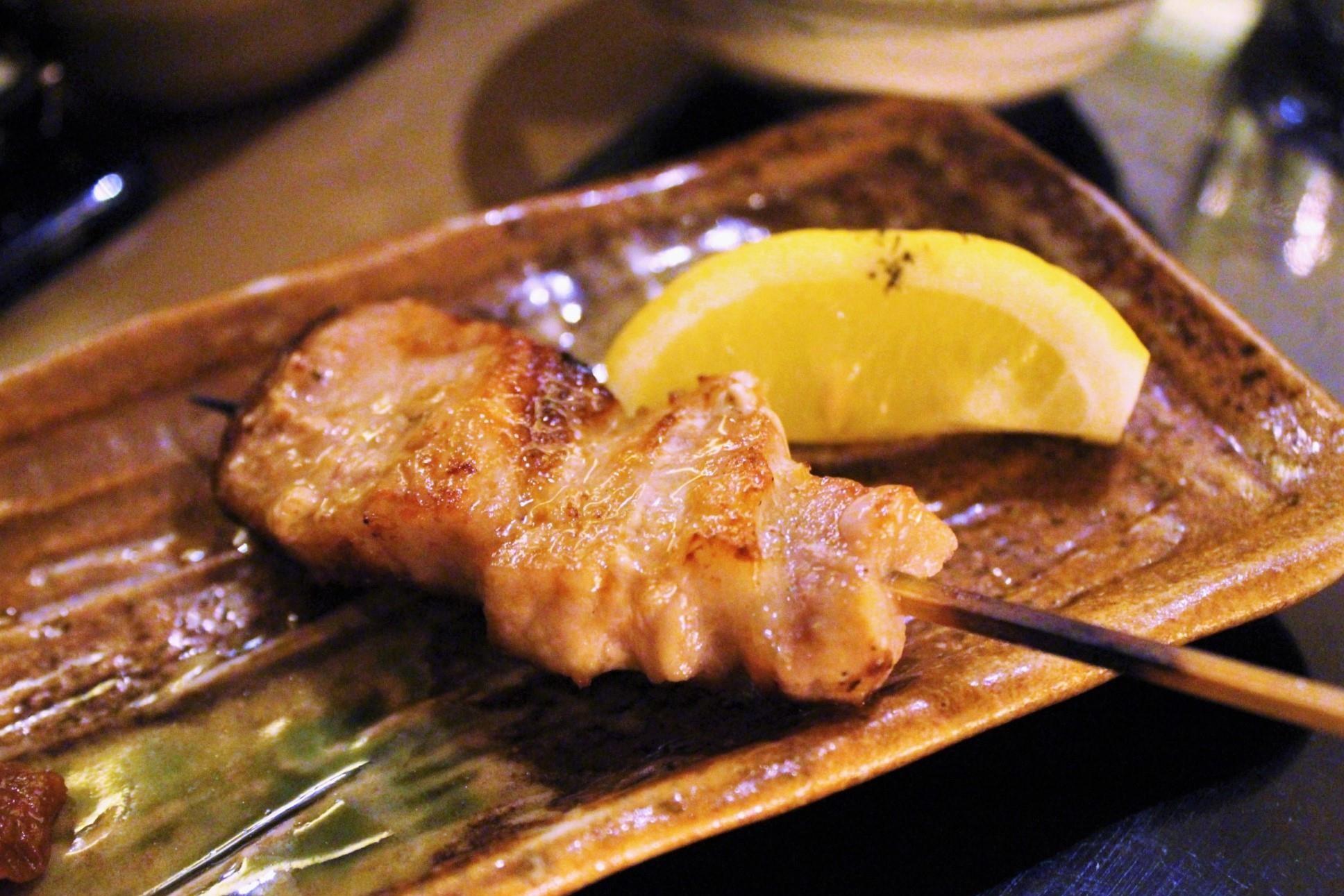 Pork Belly with Garlic Miso at Torishin