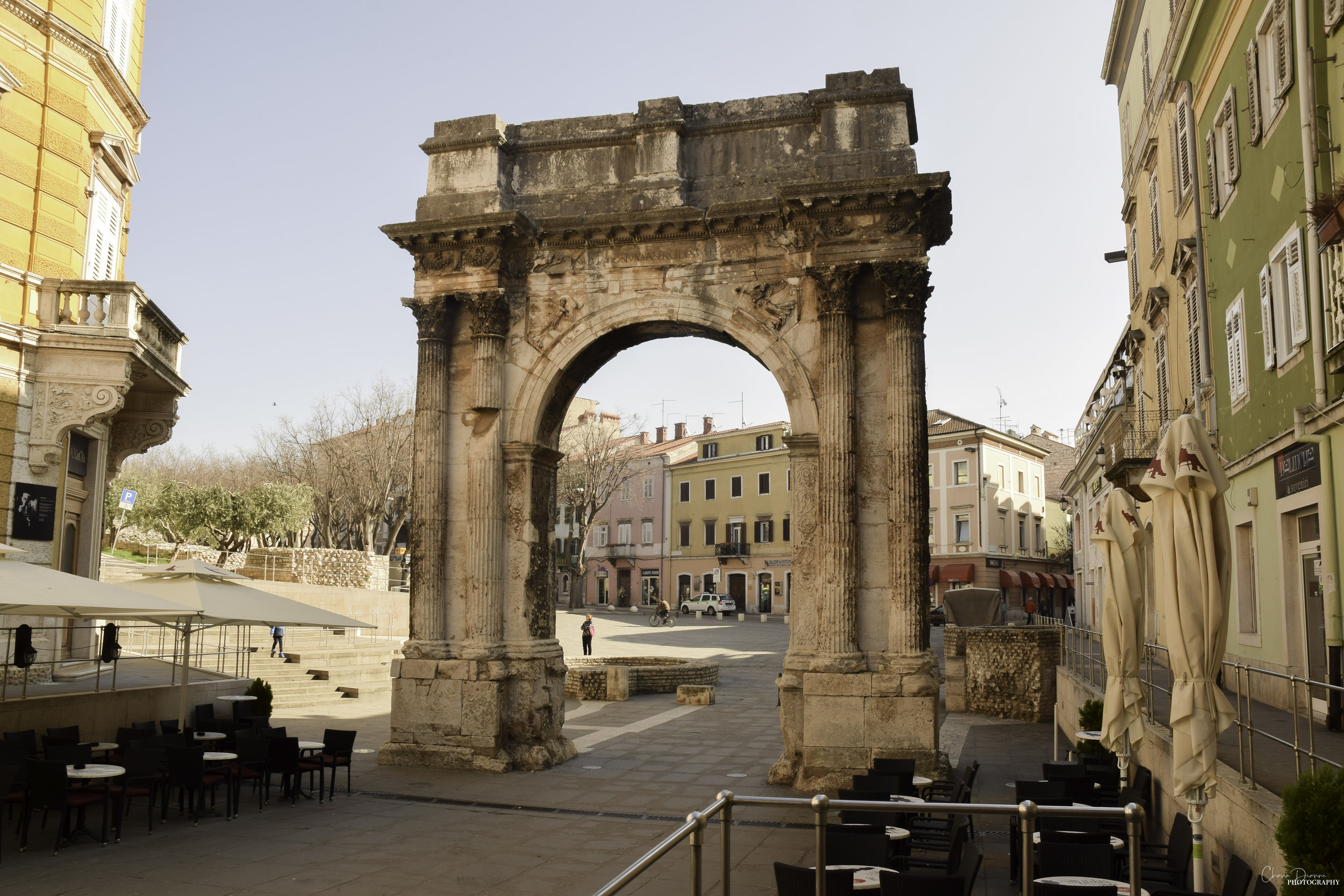 The Arch of Sergii is another landmark. It is a triumphal arch commemorating the Sergii family who were powerful officials in Pula.  Personally, we did not think the arch was impressive, but I do appreciate the significance of the arch and how important it is to Pula's history.