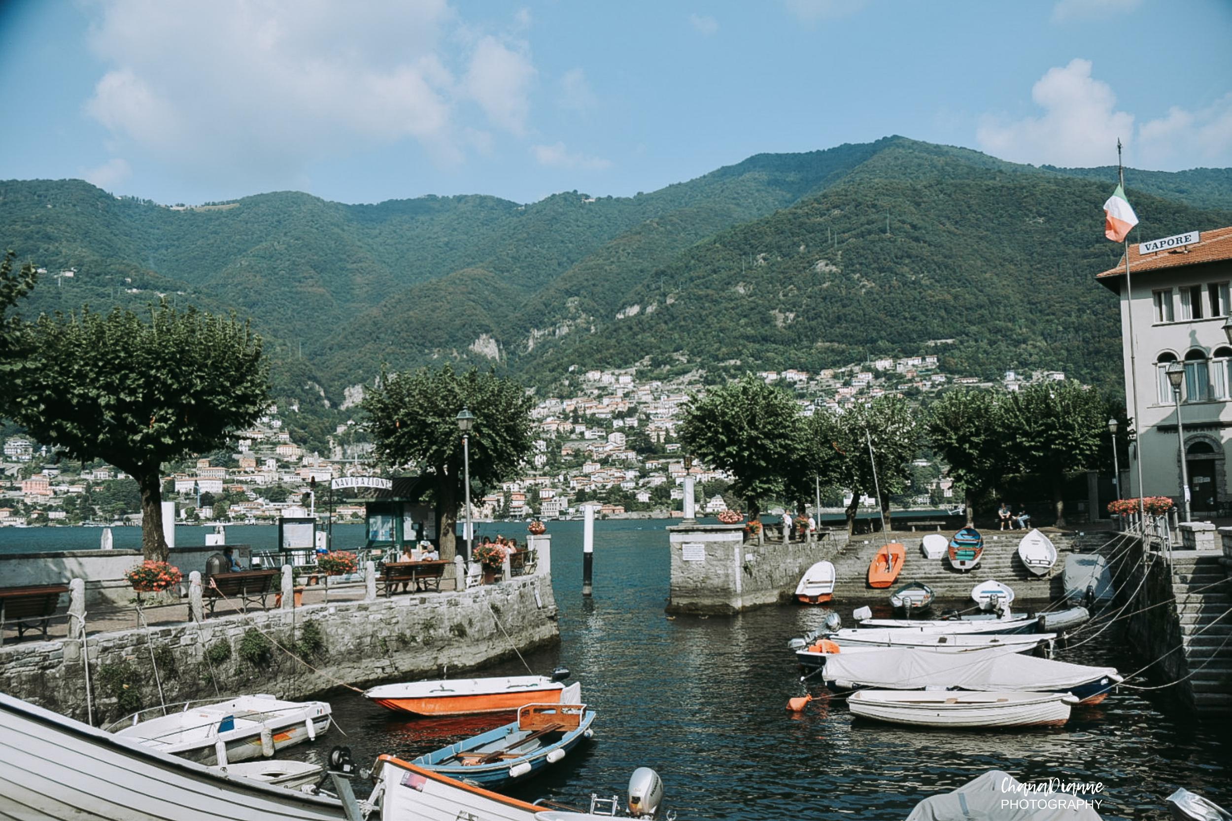 Boat access in Torno.