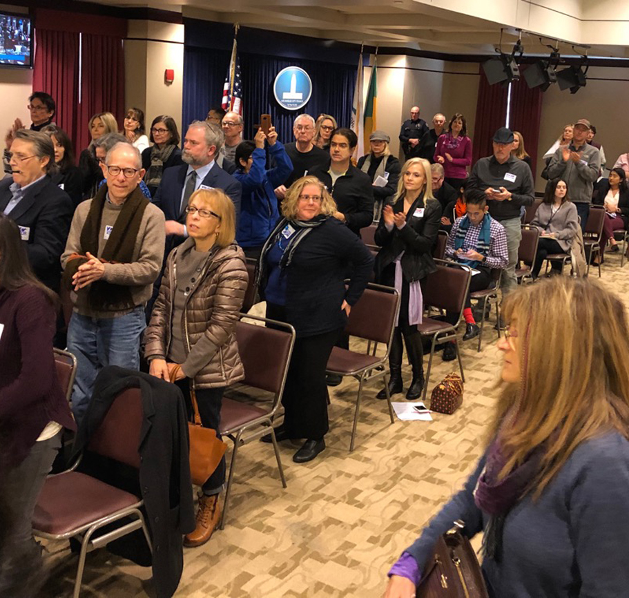 More than 100 residents attended the BOAC meeting in Van Nuys on Feb 7, 2019 to support our efforts for quiet skies.