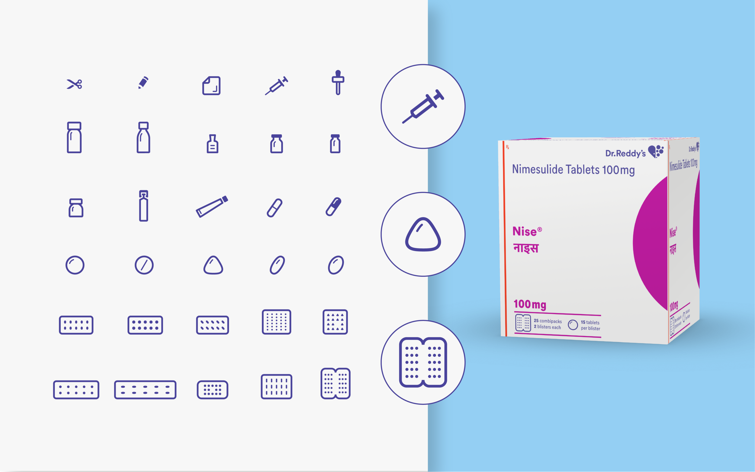 A new system of product icons helps users in product identification and understanding package contents.