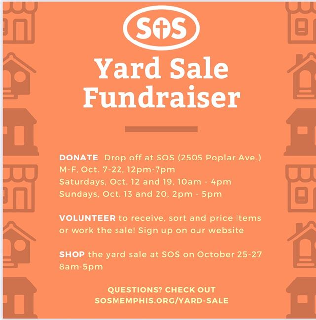 Don't forget about our yard sale fundraiser! There's still time to donate and volunteer. Make sure to come shop with us October 25-27. Check out our website for more details. Linkinbio