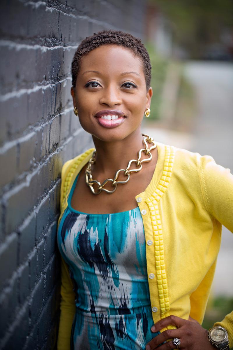 black woman head shot