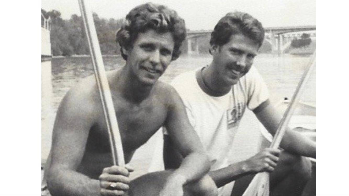 KJ Millhone (right) and Steve Eckelkamp circa 1980