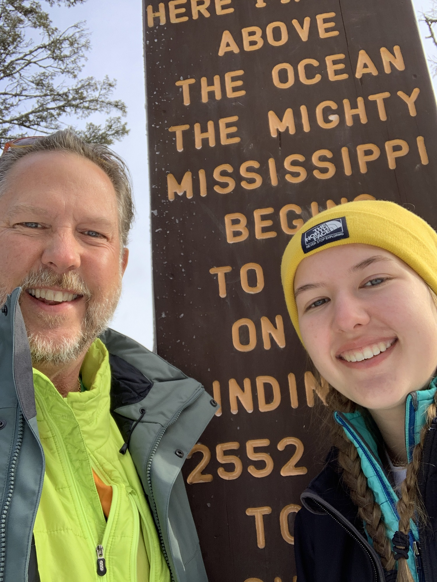 KJ and Casey at the Mississippi headwaters