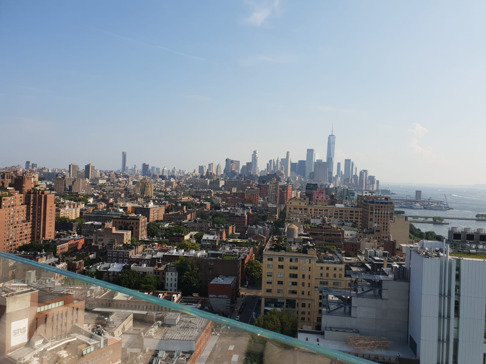 The view from Le Bain