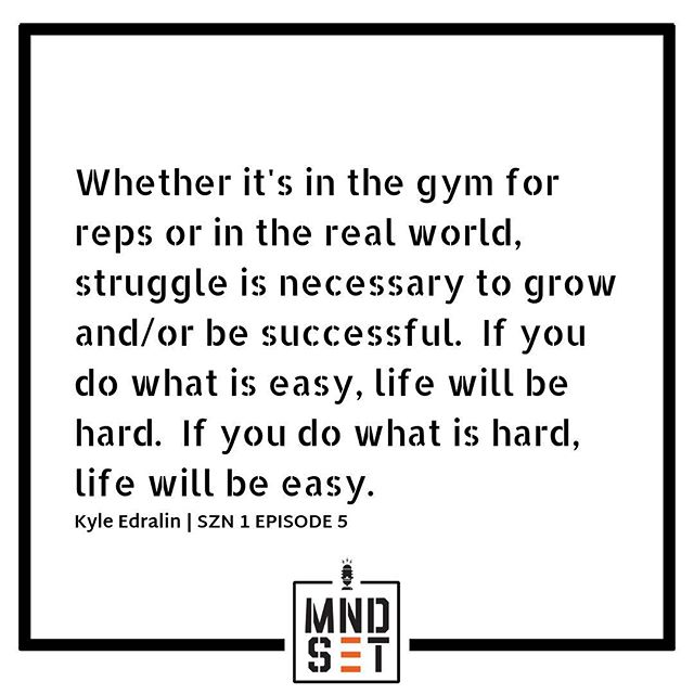 "SZN 1 EPISODE 5⠀ ""Success isn't always about greatness. It's about consistency. Consistent hard work leads to success. Greatness will come."" - Dwayne Johnson⠀ //⠀ What is your personal definition of greatness?  What are you willing to do in order to achieve that greatness?  Are you willing to do the hard stuff?  On this week's episode, @k_edge25 discusses his firm belief that struggle truly breeds greatness.  As long as you know your ""WHY"" then there would be no other choice but to struggle.⠀ //⠀ Find us on Apple Podcasts, Stitcher and Simplecast 🎧 Link is in our bio ⠀ ⠀ #itsaMNDSET⠀ #YearOfMNDSET"