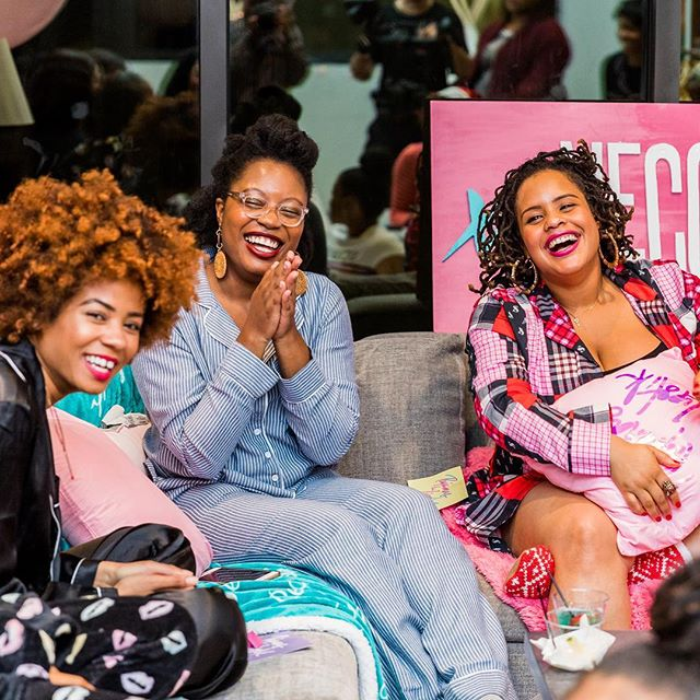 When your small staff holiday party turns into a multi city event series! We are so happy and excited to bring #pajamasandlipstick to Atlanta! The intimate girls night in experience will include good jams, cocktails, light bites, pampering stations, fireside chats and surprise guests! Hosted by the xoNecole tribe, @hellonecole and friends! Jump into your fave PJs and slap on your fiercest lip color for this party you don't want to miss 🤗🤗 Only a few tickets left! Link in bio  #girlsnight #girlsnightin #girlsnightout #atlantaevents #pajamaparty #slumberparty