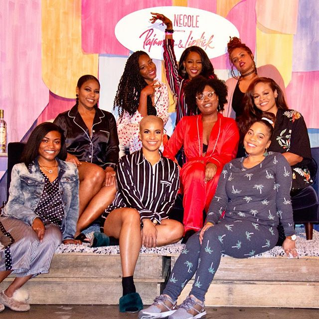 When the whole squad lit!  Cheers to some of the @xonecole team who helped make #pajamasandlipstick a success!  @hellonecole  @writeonkiah  @sheridenchanel  @justdanablair  @shakynaglory  @musiq.leigh  @shondabwhite  @charpatterson  @krystaldnk  @tailiahbreon   Scroll right 🤓🤓  We can't wait to see you at the next event! June or July perhaps? 😊 Drop your city in the comments if you are game 👇🏾👇🏾👇🏾  #pajamasandlipstick @girlsnightin #girlsnight #girlsnightout #xonecole #pajamaparty #slumberparty #willpackermedia