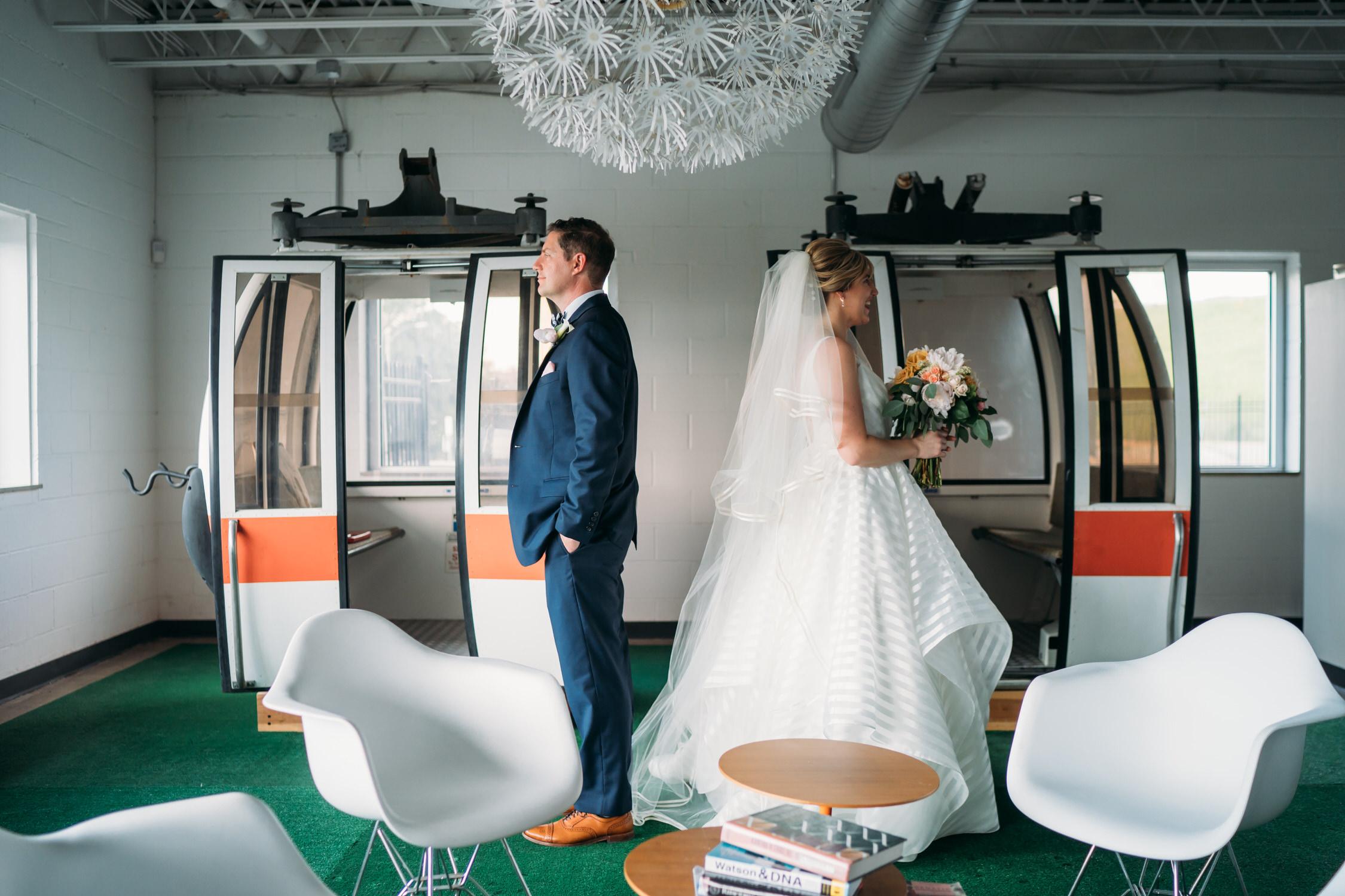 St Louis Modern Wedding, First Look