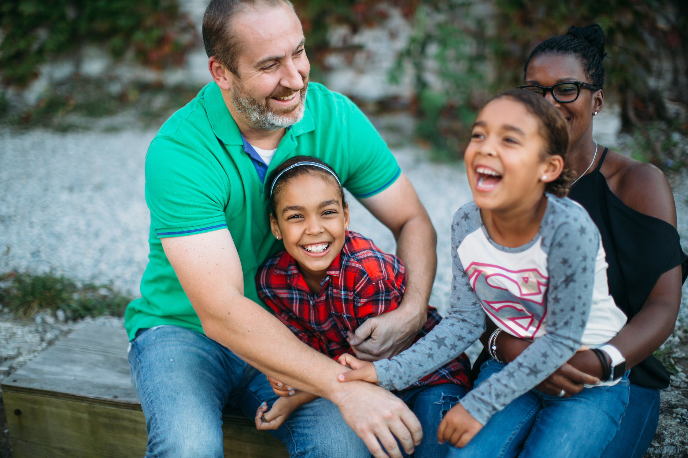 Interracial family, blended family, St louis family photographer
