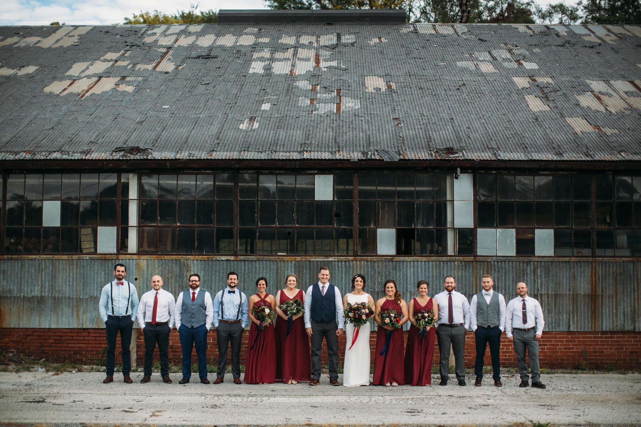 Wedding Party, Fall wedding, Midwest wedding