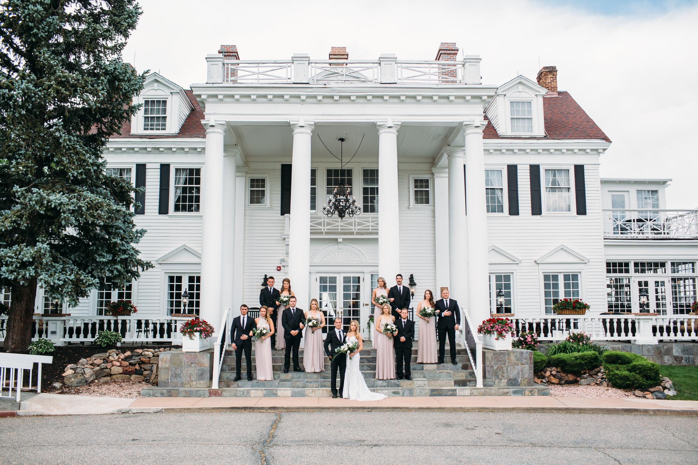 Wedding Party photos Manor House Littleton Colorado, Denver Wedding Photographer