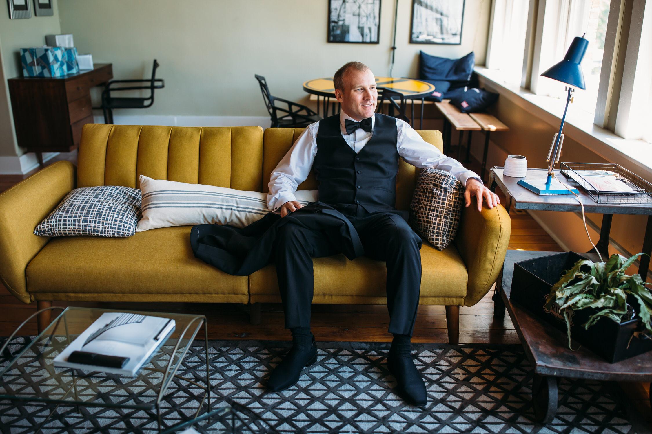 Seattle Wedding Photographer, Groom portrait