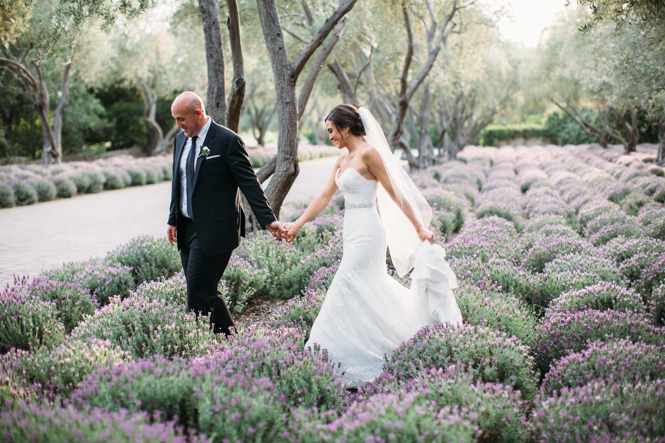 San Ysidro Ranch Lavender Field Wedding photograph