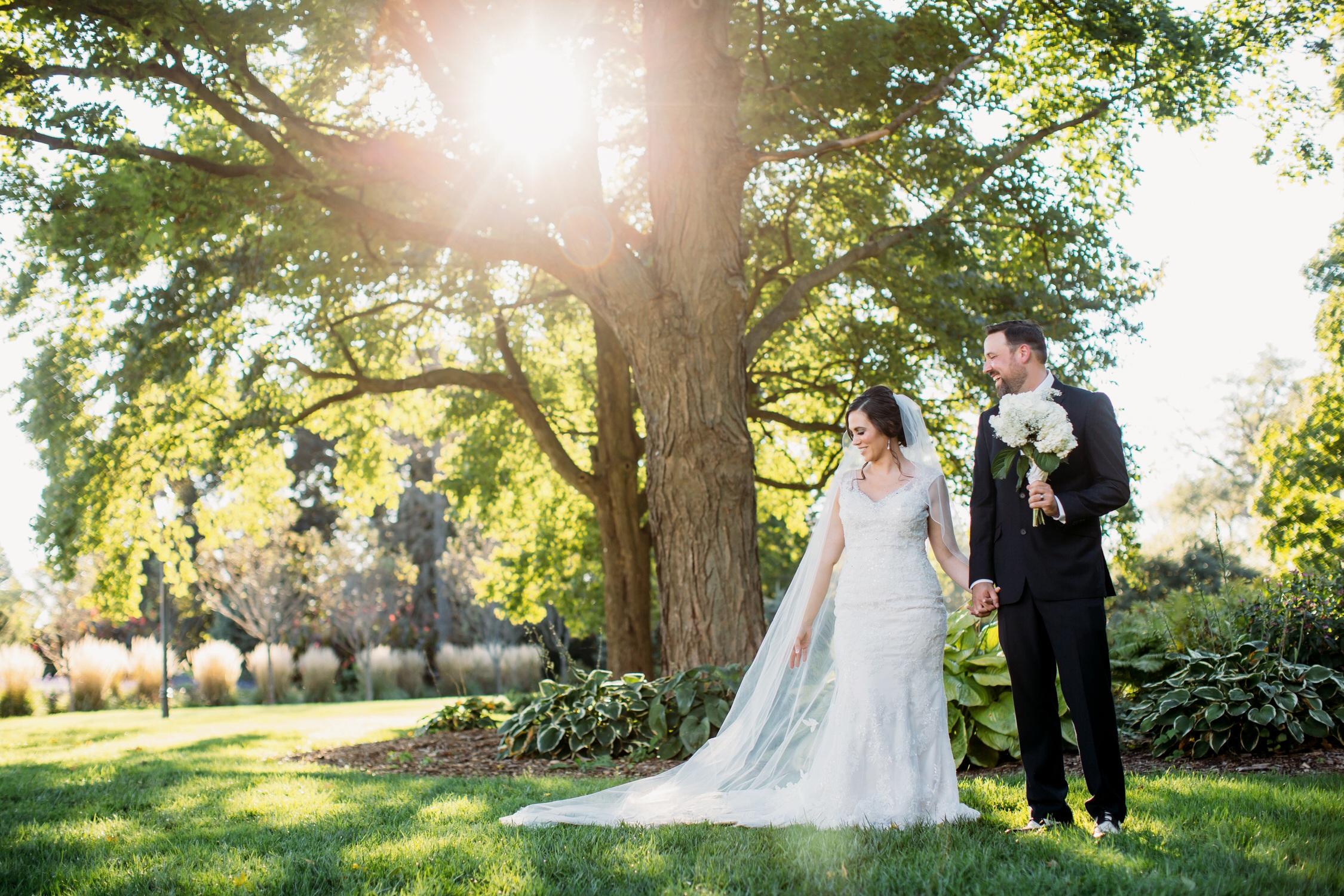 Chicago wedding photographer, bride and groom