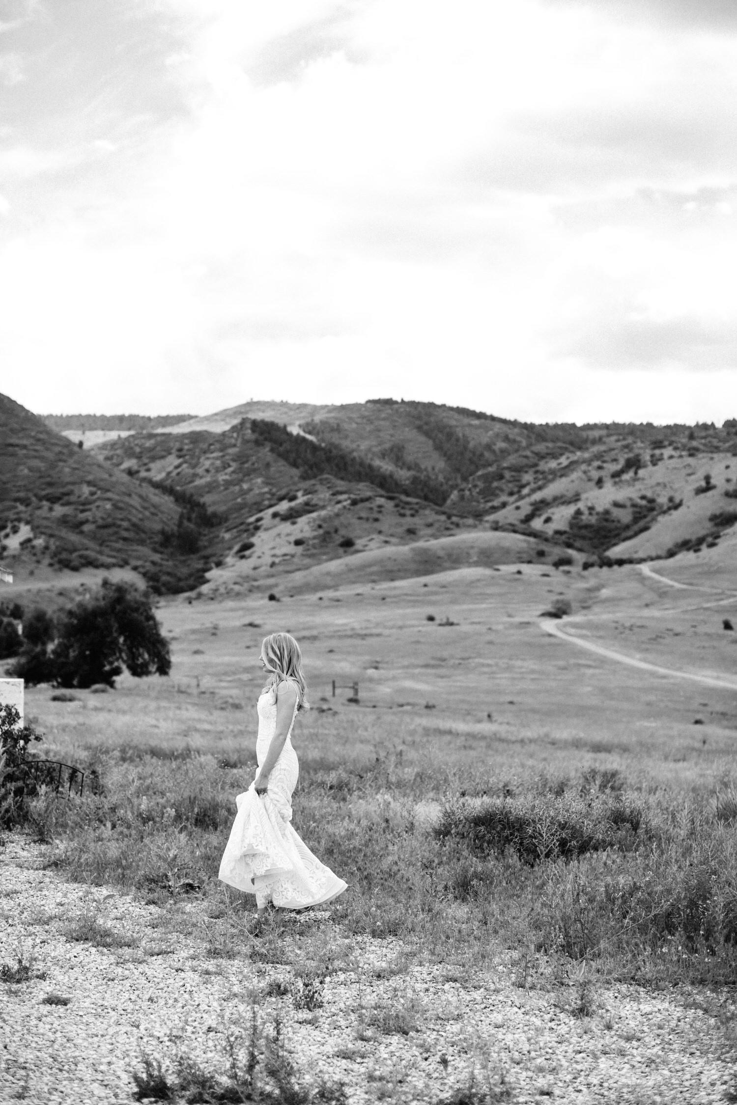 Mountain bridal portraits, Denver Wedding Photographer