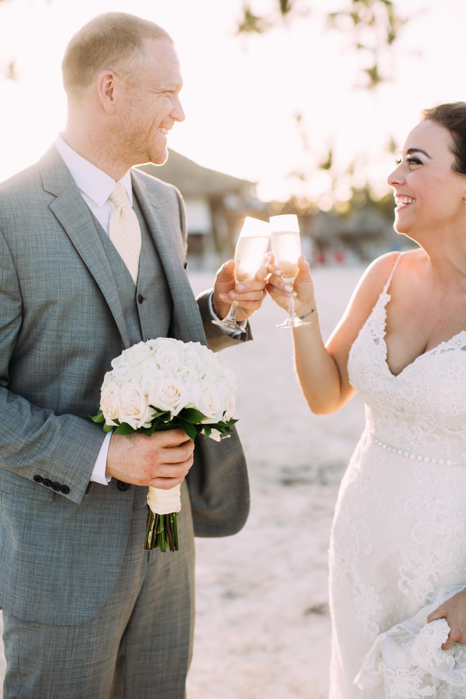 Dominican republic Wedding, Punta Cana. Destination wedding photographer. Bride and groom.