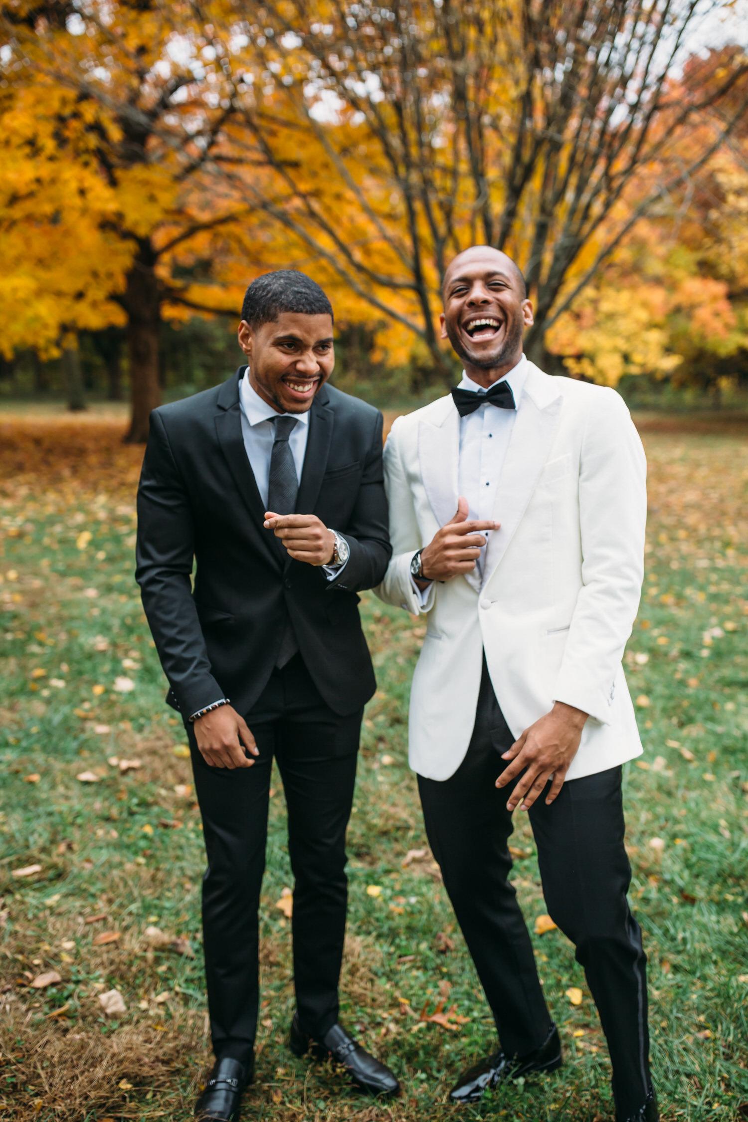 Groom style and groomsmen. Fall wedding. Seattle wedding photographer