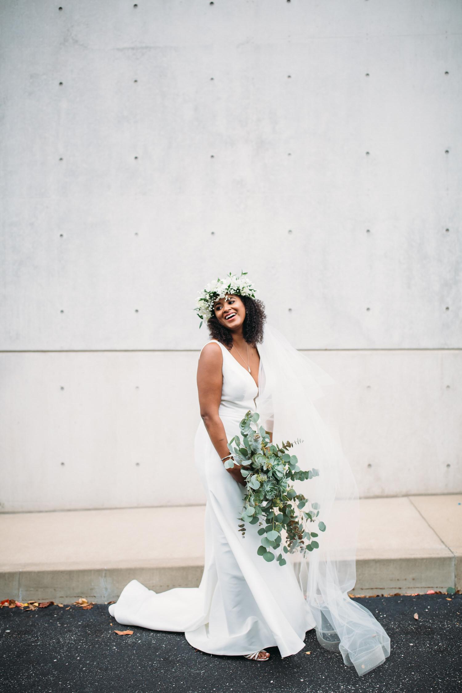 Modern bride, st louis wedding photographer, bridal portraits