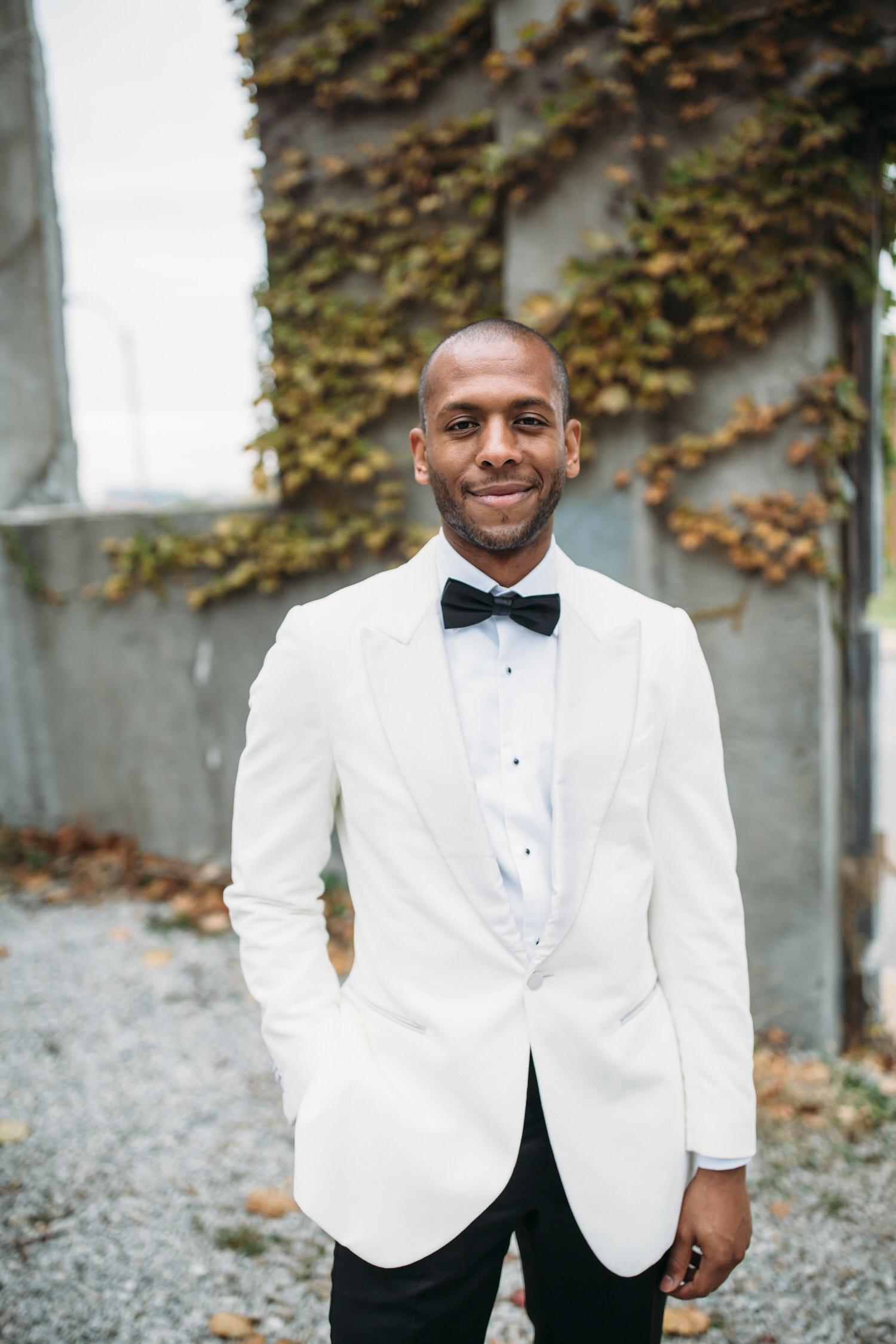 Groom style, St Louis modern wedding