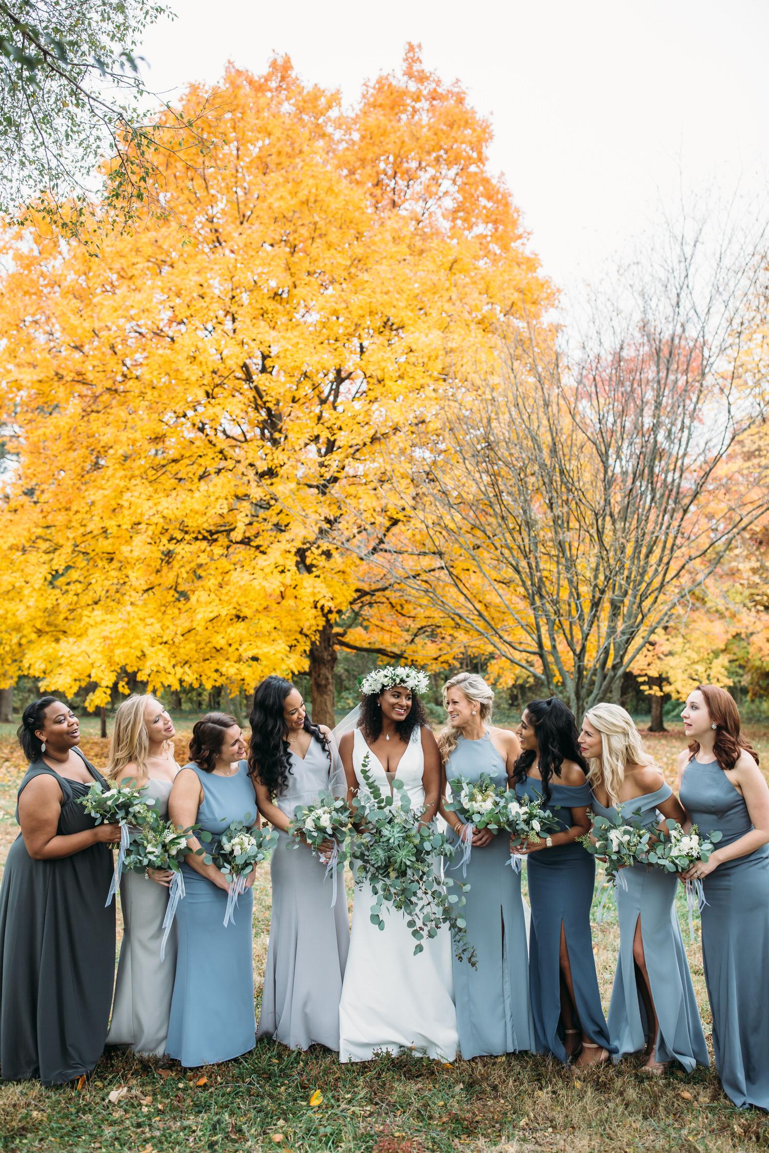bride and bridesmaids, seatlle wedding photographer