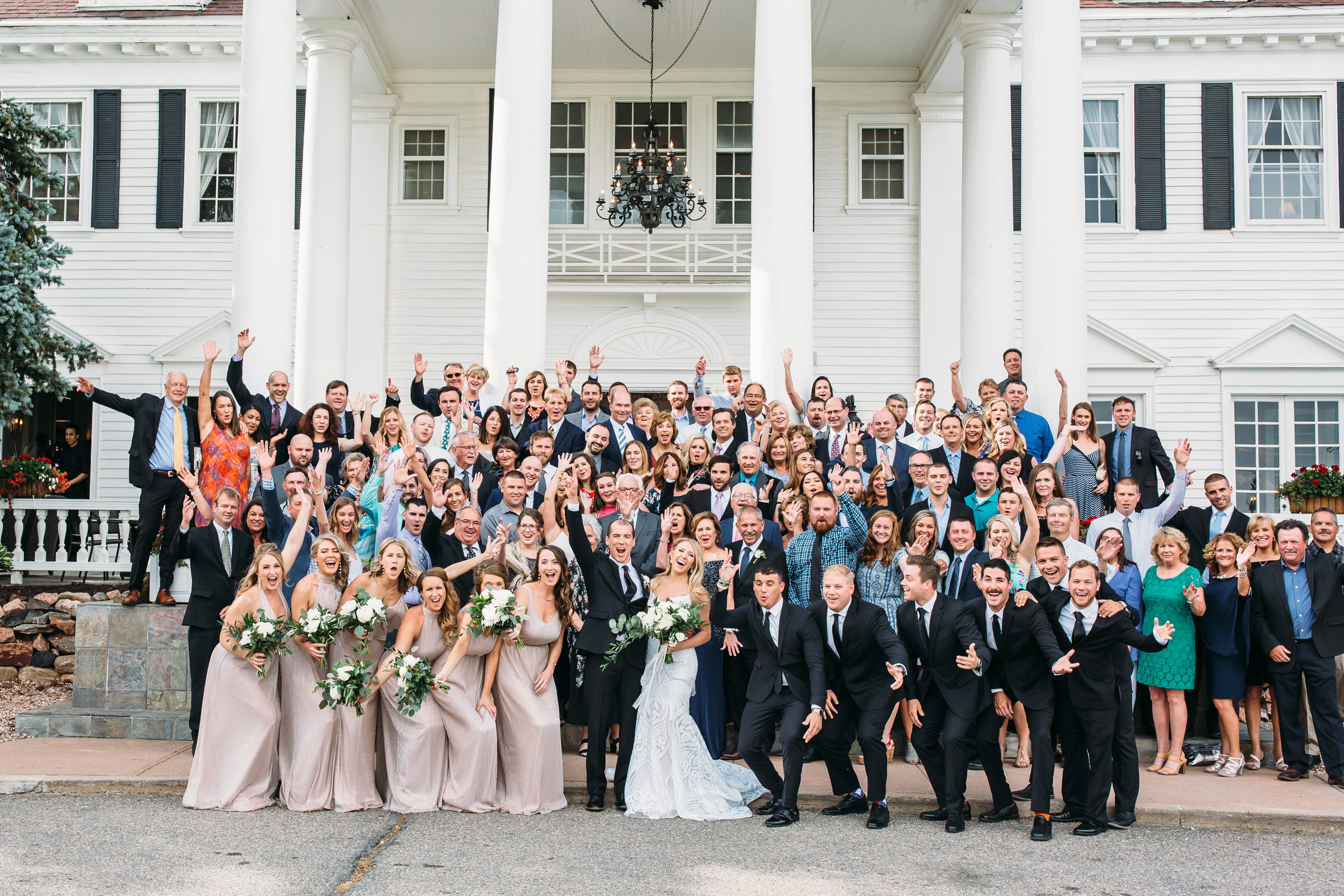 Big group photos on the wedding day, Destination Wedding, Denver Wedding Photographer