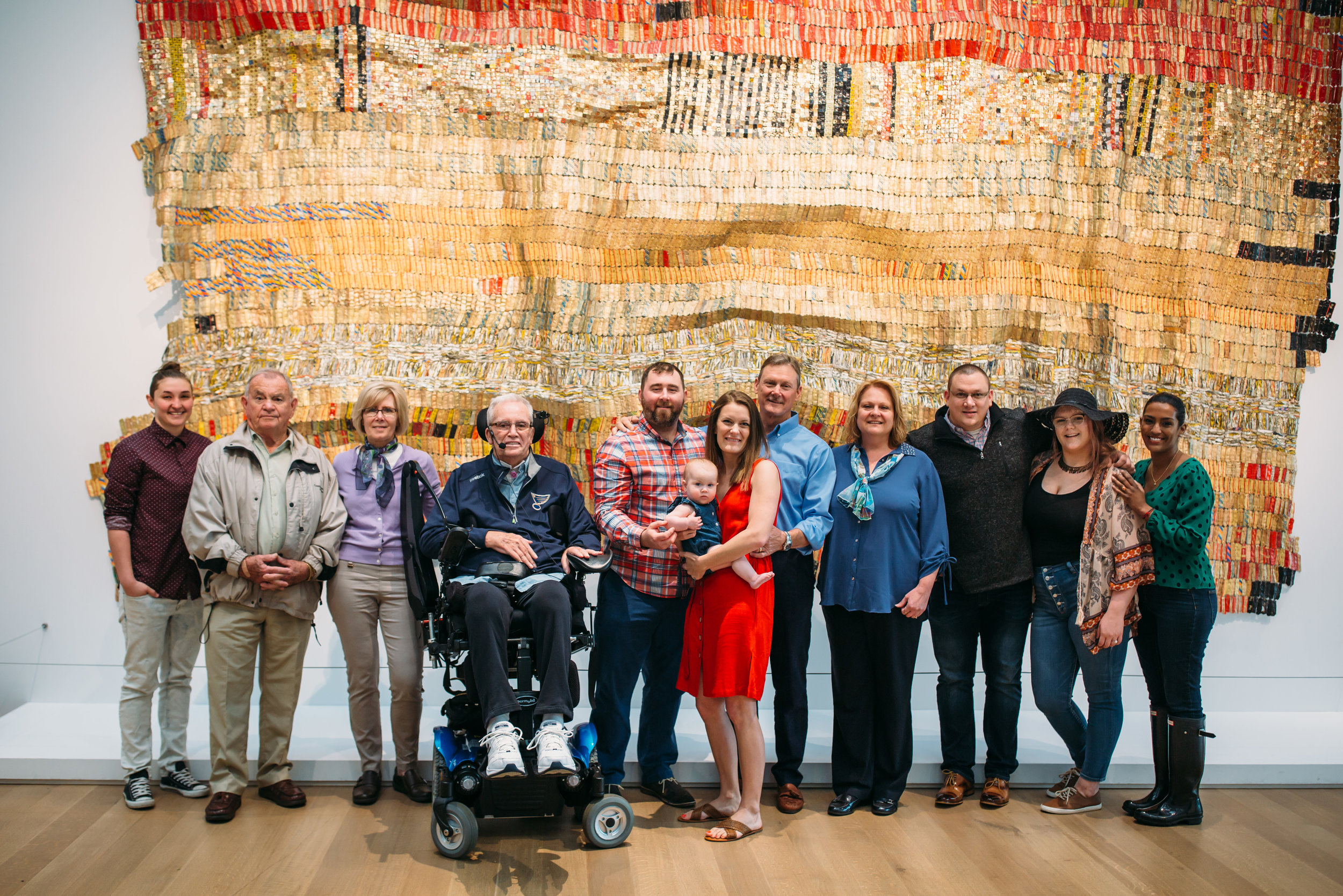 Stephanie and her family Mother's Day weekend 2019 at the St Louis Art Museum