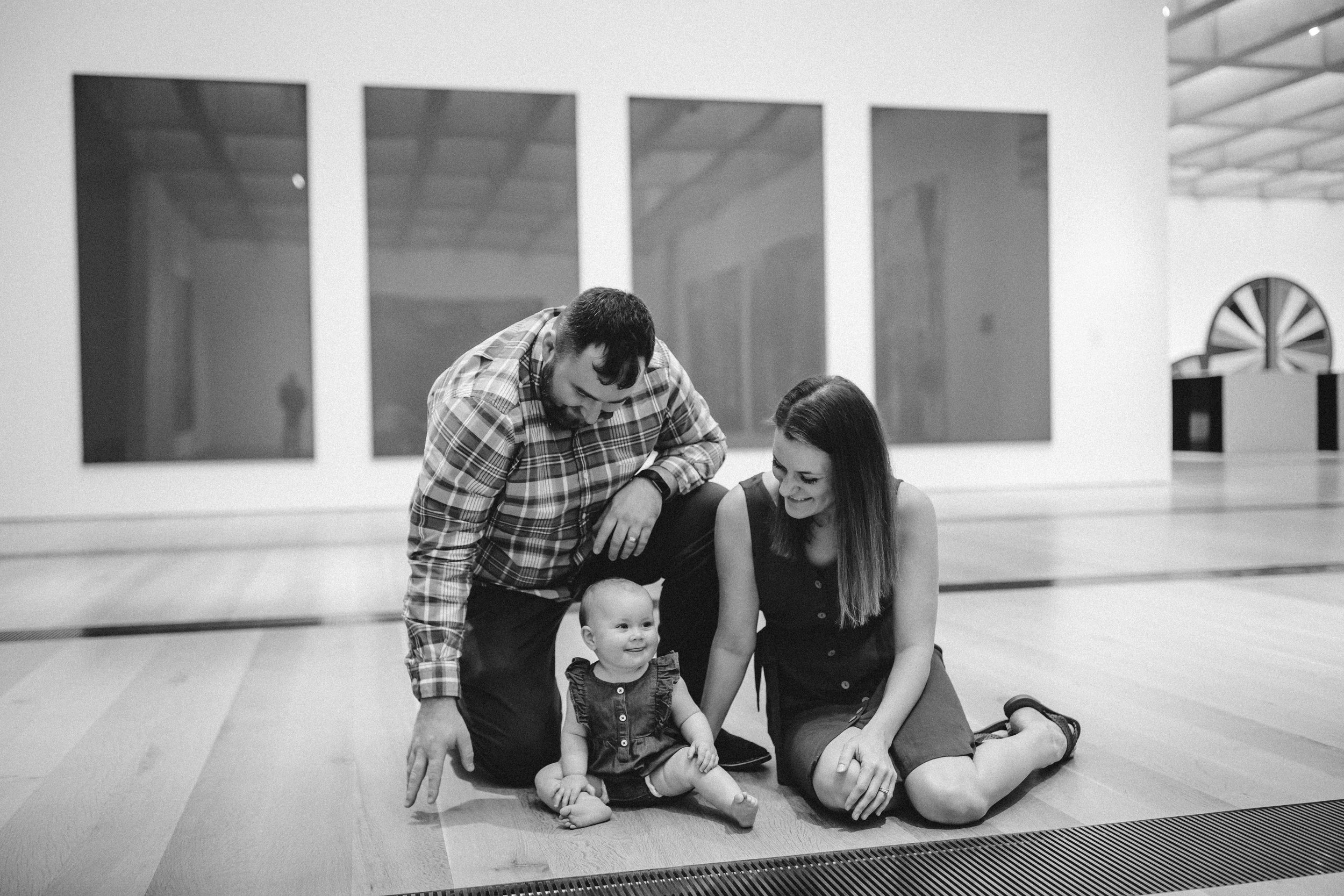 John Pat, Maggie James and Stephanie. Maggie James is the most perfect squishy 10 month old baby ever.
