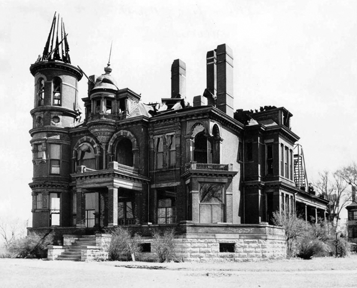 Hamm Mansion after fire