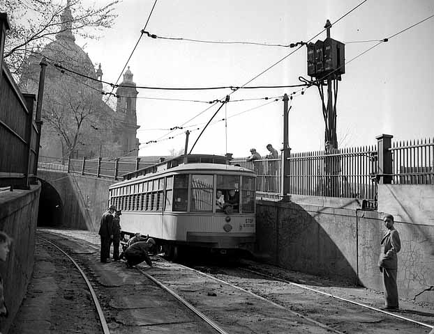 Lower tunnel entrance. 1948.