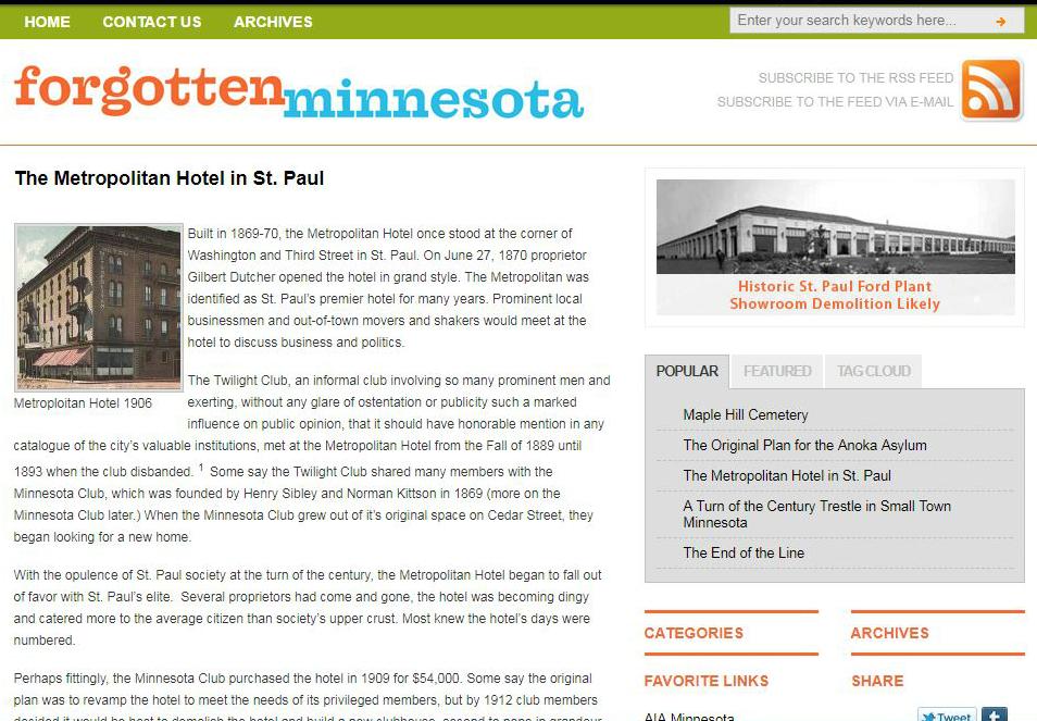 Original website. 2011.