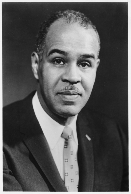 Roy WIlkins in 1955. Photo: MNHS (por 18703 r1)