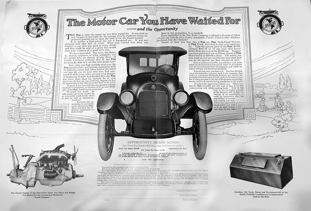 Pan Motor Car Advertisement