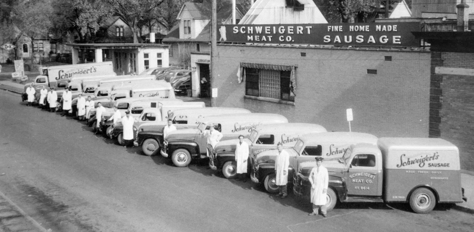 Schweigert Meat Company delivery trucks (Photo: Schweigert Meat)