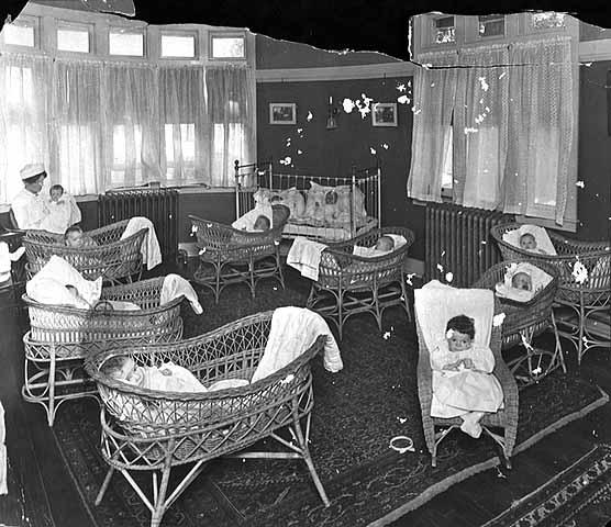 Ripley Memorial Maternity Hospital Nursery. Photo: MNHS (R3.1 p11)