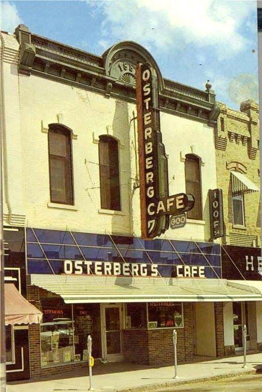 Exterior of Osterberg's Cafe. Photo: Douglas County Historical Society
