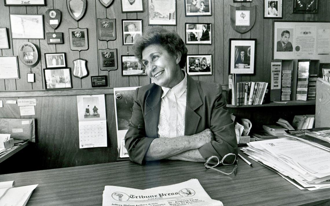 Veda Ponikvar in her office.
