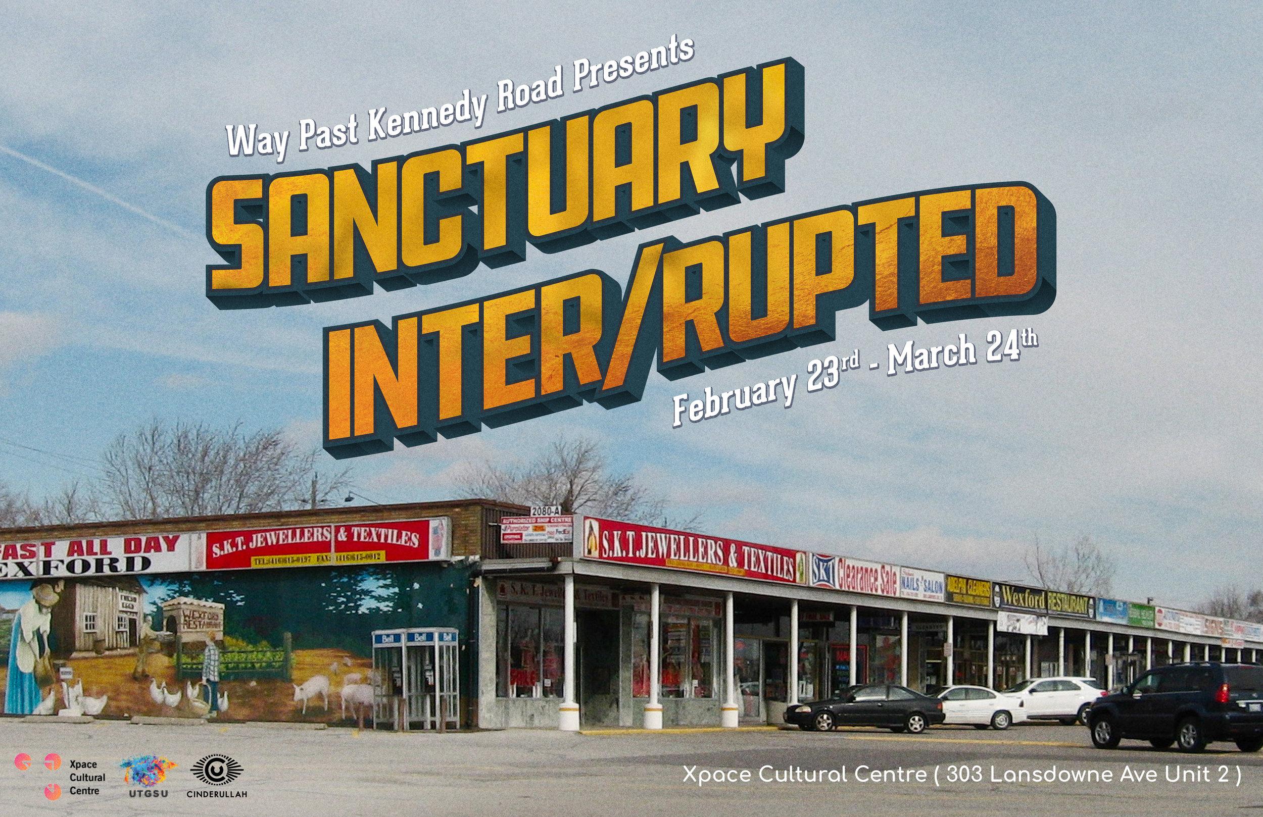 Sanctuary Inter/rupted  postcard by Sahar Ullah (2018)