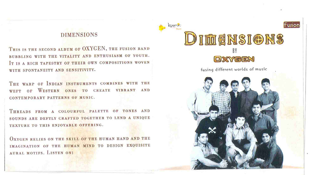 Press Kit — OXYGEN | World Fusion Music Band | Chennai