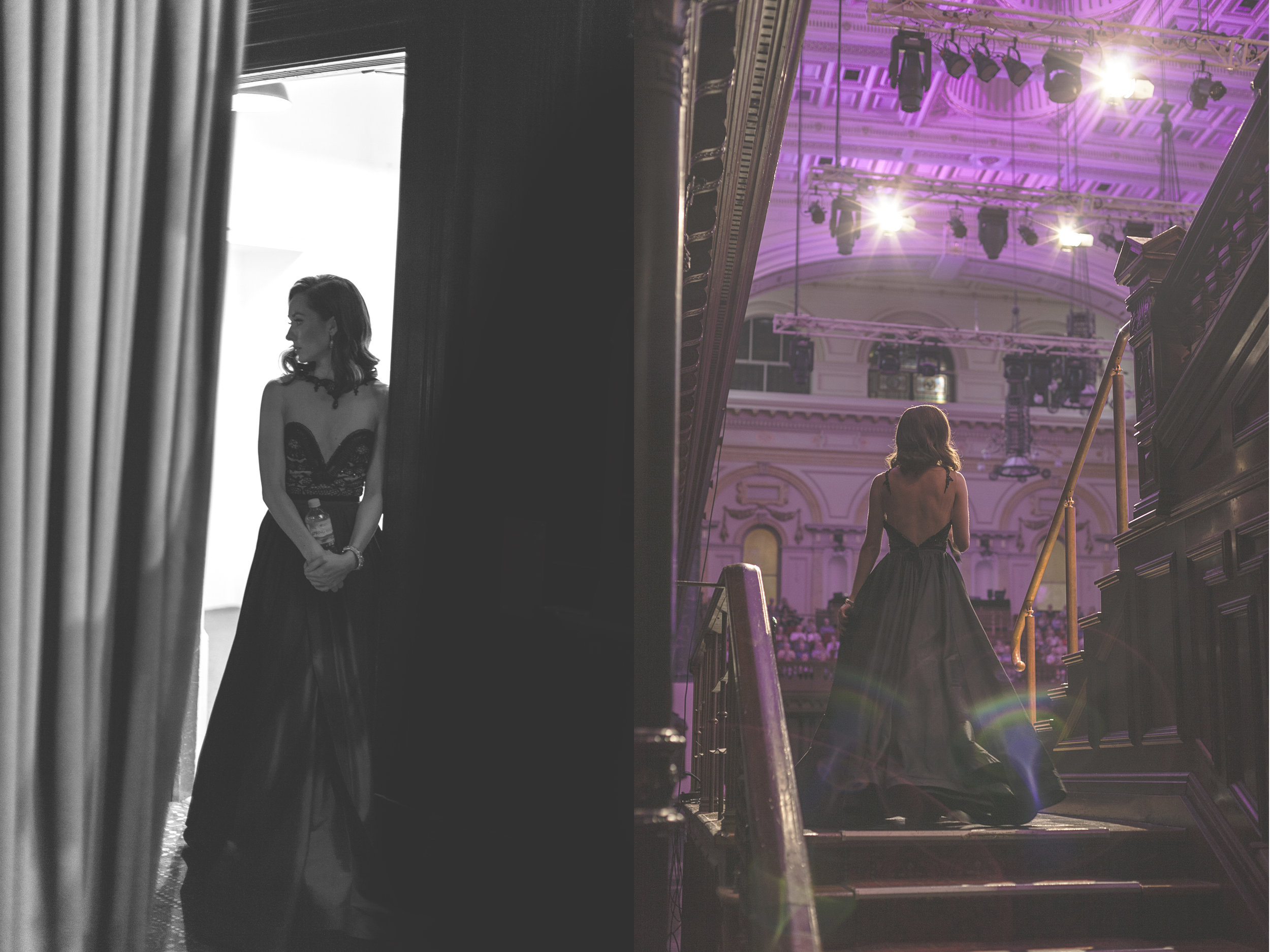 Australian Soprano Claire Lyon, backstage, February 2017