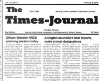 Enjoy your free copy of the local paper, The Times-Journal, established in 1886.