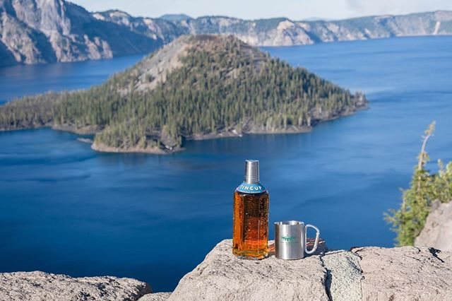 Tried @tincupwhiskey while I've been on vacation out west and I love it! I need to buy a bottle when I get home! Here's a creative pic from my visit at @craterlakenationalpark 😊  #tincup #tincupwhiskey #whiskey #idrinkwhiskey #advertisement #drinkingwhiskey #whiskeydrinking #fujifilmxt3 #craterlake  #craterlakenationalpark #zacharystonephotography