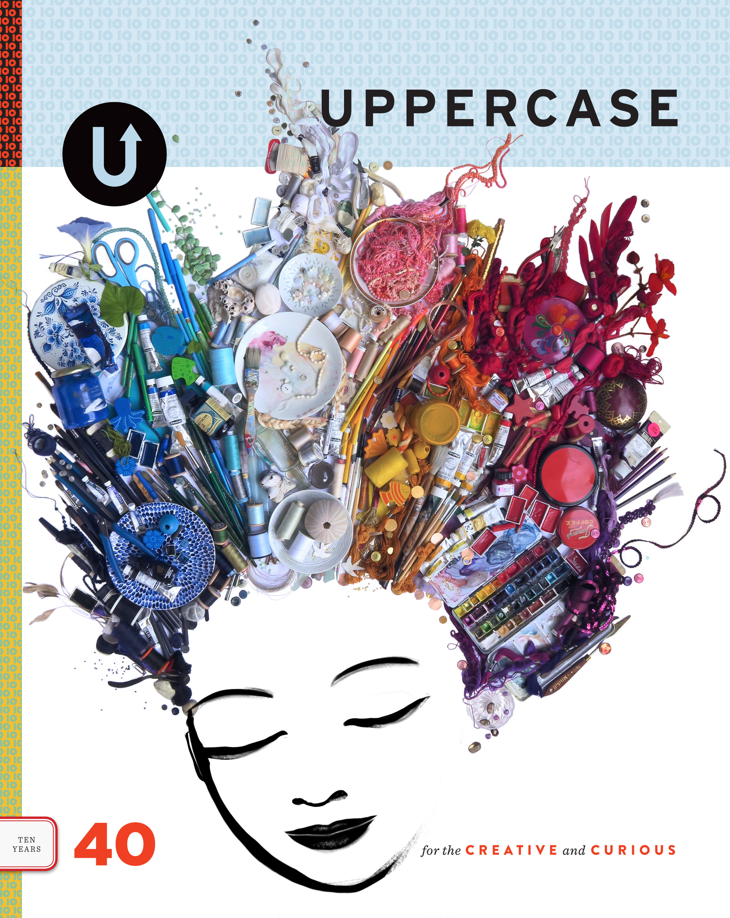 Submission for the cover of the 10th anniversary issue of Uppercase magazine