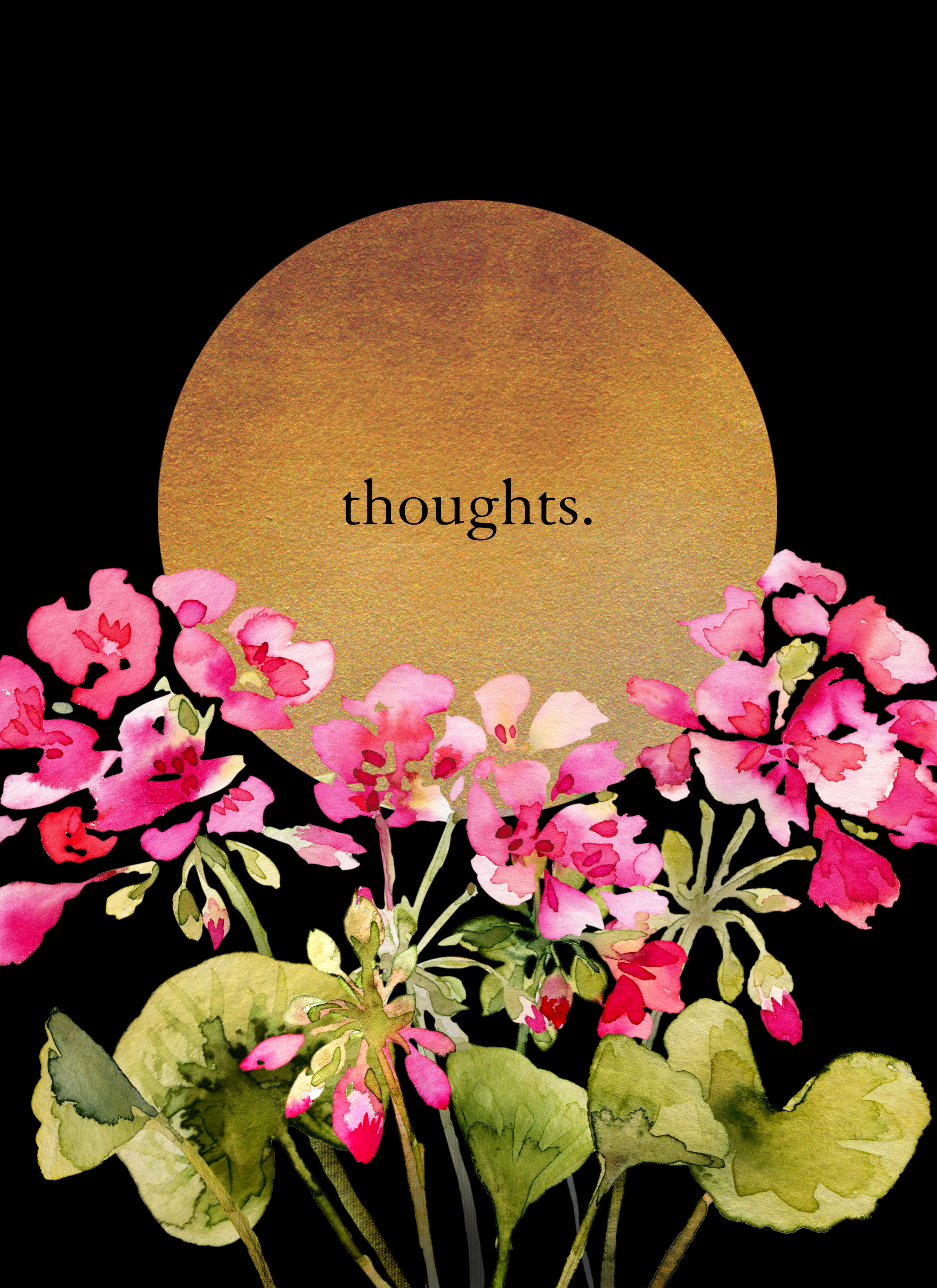 "Journal cover ""thoughts."""