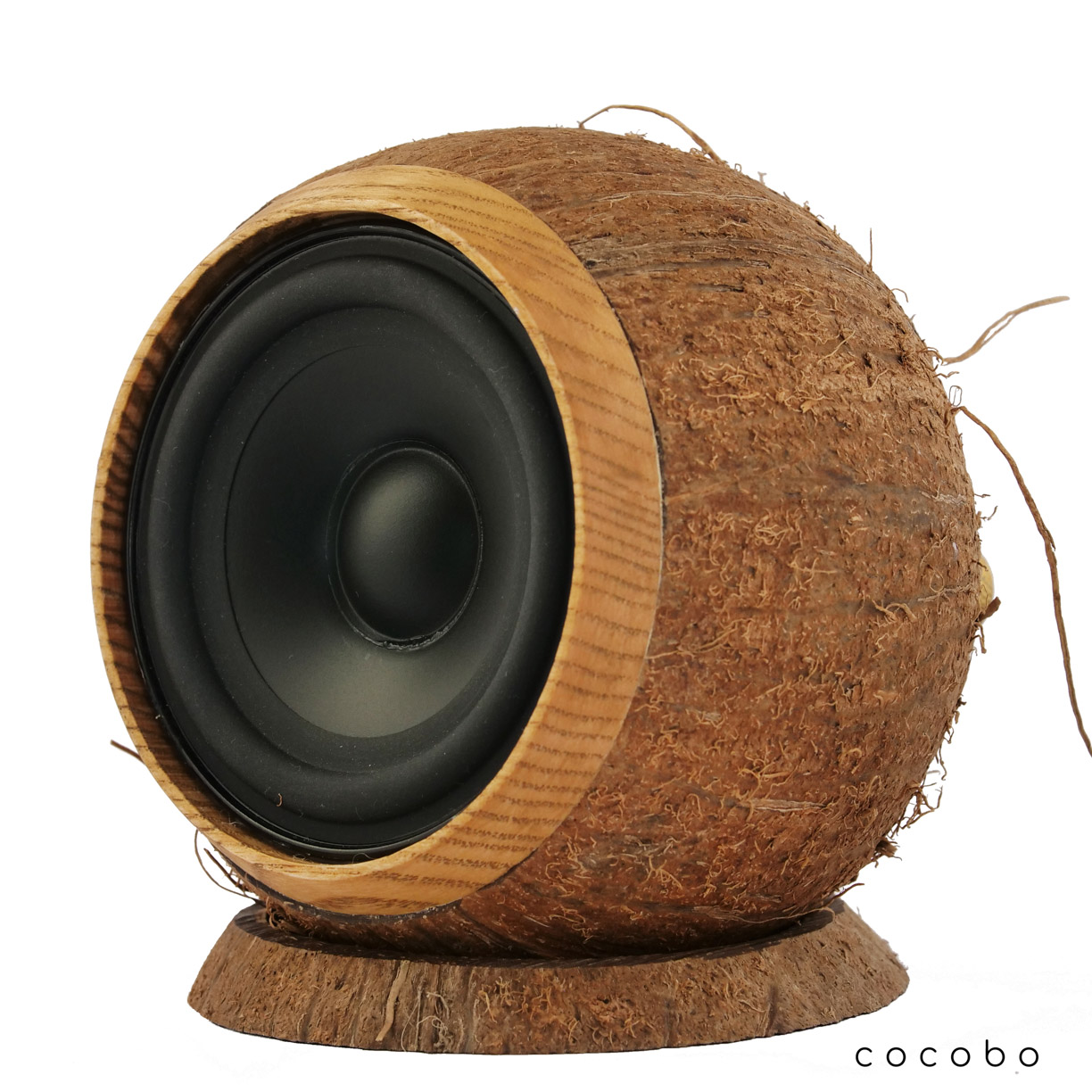 Cocobo natural coconut speaker on ring