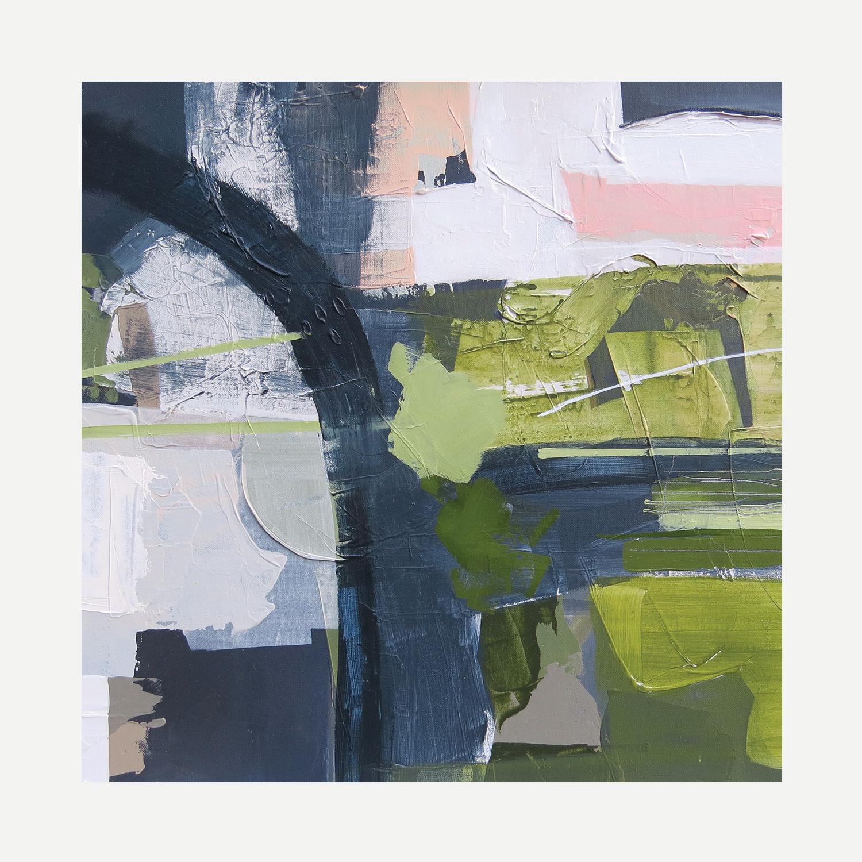 CHILTERN HILLS Acrylic on canvas 40x40cm